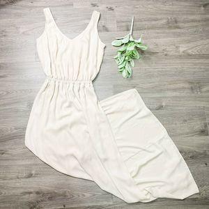 SMYM | sz S nude bridesmaid Kendall maxi dress